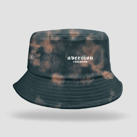 Chapéu Bucket Hat Aversion Tie Dye Bleach