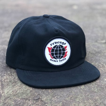 Boné Aversion Snapback Desestruturado Aba Reta Preto - Model Revenge