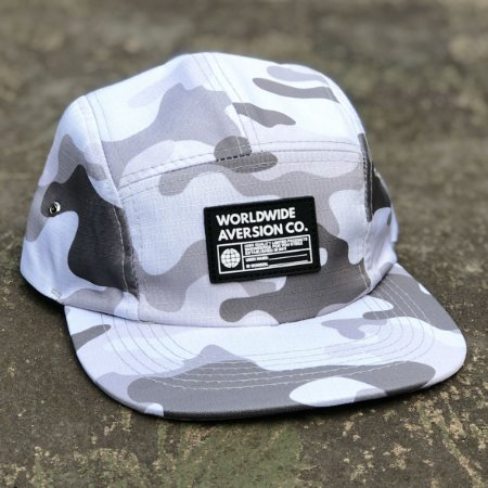 Boné Aversion Five Panel Aba Reta Camuflado Branco/Cinza - Model Worldwide