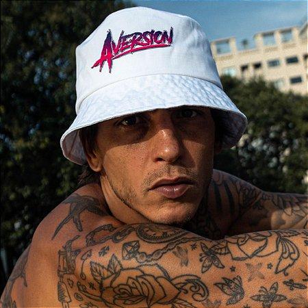 Chapéu Bucket Hat Aversion Branco - Model Neon