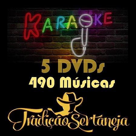 Kit Sertanejo - 490 Músicas Karaokê