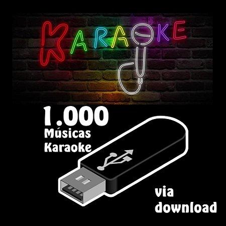 1000 músicas karaoke nacionais e internacionais via download
