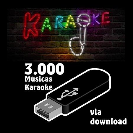 3000 músicas karaoke nacionais e internacionais