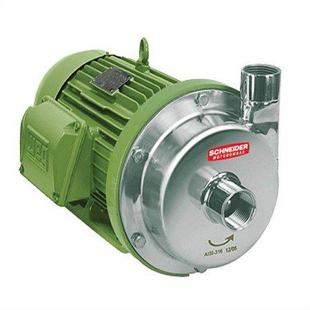 Bomba Monoestágio Schneider em aço inox MCI-RE IP-21 1 CV monofásica 110V/220V com capacitor