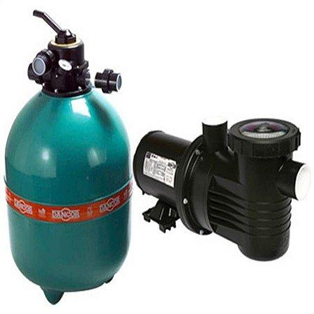 Filtro p/ piscina Dancor DFR-19 com bomba de 1/2CV monofásica 110V/220V