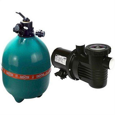 Filtro p/ piscina Dancor DFR-22 com bomba de 3/4CV monofásica 110V/220V