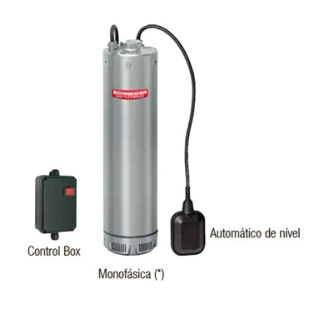 Bomba Multiestágio Schneider em aço inox VN-5415 1,5 CV monofásico 220V/230V 3 fios com control box