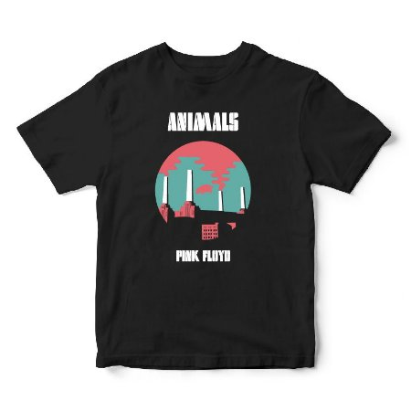 Camiseta Pink Floyd - Album Animals - Música