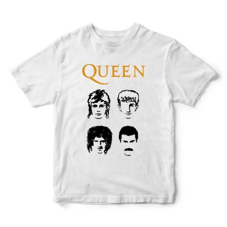 Camiseta Queen com Freddie Mercury e Brian May - Música