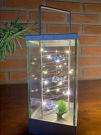 Luminárias Decorativas Quadrada de led com Tsurus Azuis