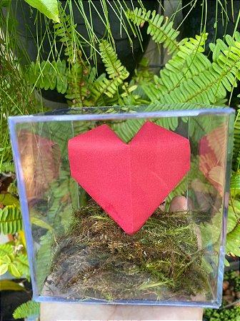 Amor ao cubo com 1 coração