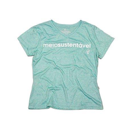 Camiseta Ecológica Meio Sustentável Big Logo (gola v)