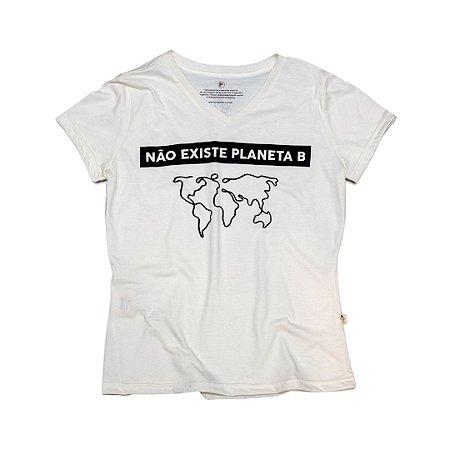 Camiseta Ecológica Meio Sustentável Planeta B (gola v)
