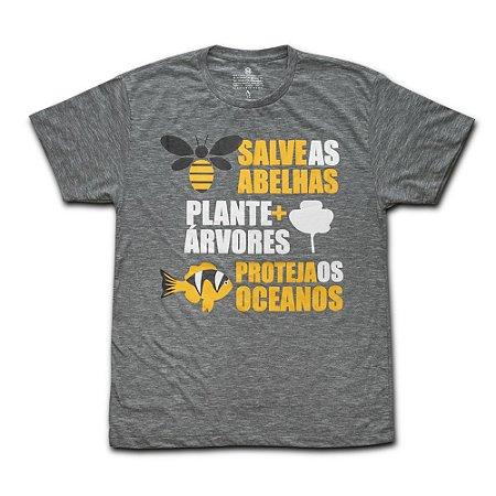 Camiseta Ecológica Salve as Abelhas