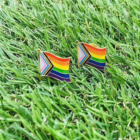 Pin Nova Bandeira Do Orgulho LGBTQIAP+