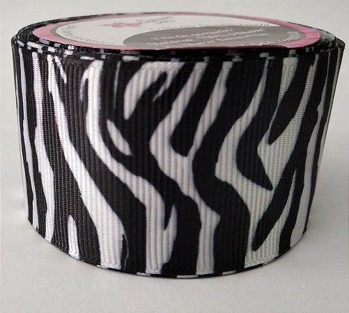 Fita de Gorgurão Animal Print Zebra 0119