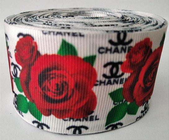 Fita de Gorgurão Chanel Floral 5644