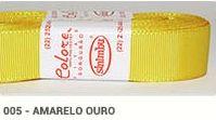 Fita de Gorgurão Lisa 005 Amarelo Ouro