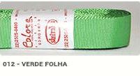 Fita de Gorgurão Lisa 012 Verde Folha