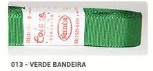 Fita de Gorgurão Lisa 013 Verde Bandeira