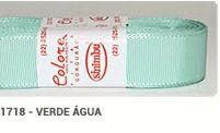 Fita de Gorgurão Lisa 1718 Verde Água