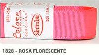 Fita de Gorgurão Lisa 1828 Rosa Fluorescente