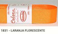 Fita de Gorgurão Lisa 1831 Laranja Fluorescente
