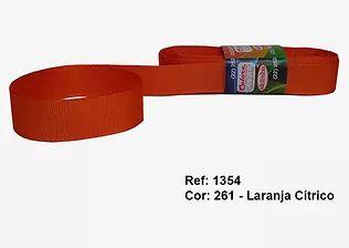 Fita de Gorgurão Lisa 261 Orange