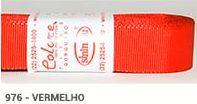Fita de Gorgurão Lisa 976 Vermelho