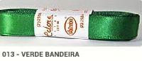 Fita de Cetim Lisa 13 Verde Bandeira