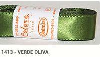 Fita de Cetim Lisa 1413 Verde Oliva