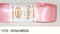 Fita de Cetim Lisa 1773 Rosa Médio