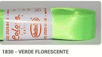 Fita de Cetim Lisa 1830 Verde Fluorescente