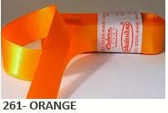 Fita de Cetim Lisa 261 Orange