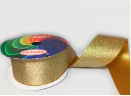 Fita Decorativa Lurex c/10 metros 14 Ouro