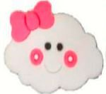 Aplique Emborrachado Nuvem Pink