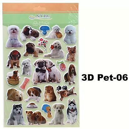 Cartela Adesiva 3D Pet-06