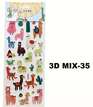 Cartela Adesiva 3D MIX-35