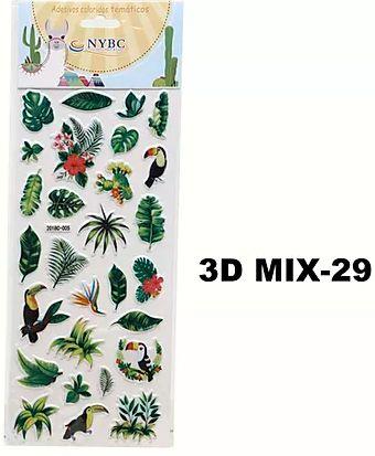 Cartela Adesiva 3D MIX-29