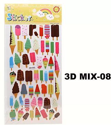 Cartela Adesiva 3D MIX-08