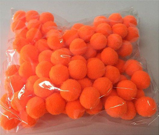 Pompom n°1 (10mm) Pacote com 100 unidades - Laranja Fluorescente