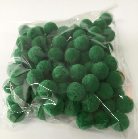 Pompom n°1 (10mm) Pacote com 100 unidades - Verde Bandeira