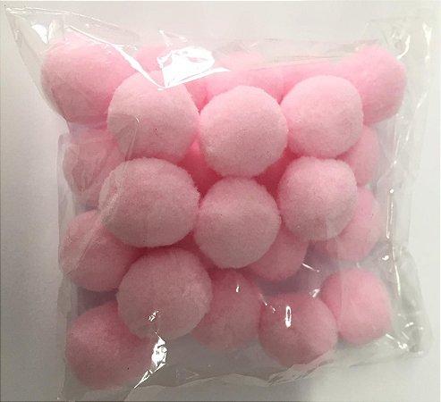 Pompom n°2 (20mm) Pacote com 25 unidades - Rosa Bebê