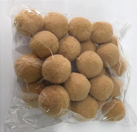 Pompom n°2 (20mm) Pacote com 25 unidades - Bege