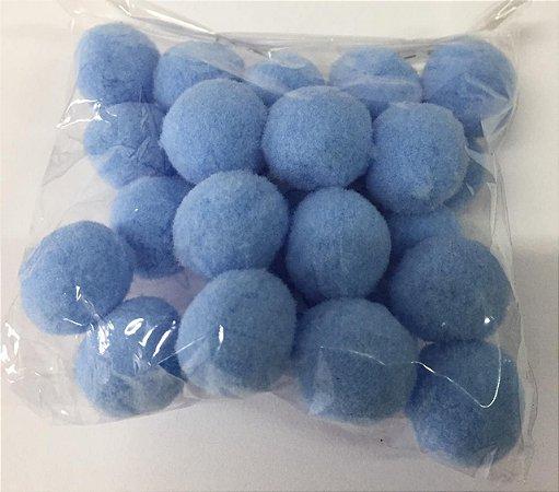 Pompom n°2 (20mm) Pacote com 25 unidades - Azul