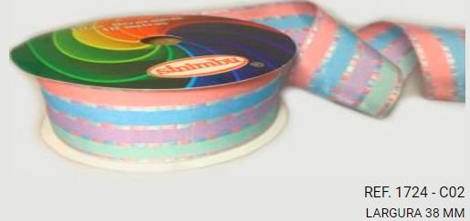 Fita Decorativa Listrada n°9(38mm) SINIMBU - C02 Candy Colors