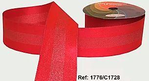 Fita Decorada Gorgurão com Cetim 38mm Sinimbu - 1728 Rosa Pink