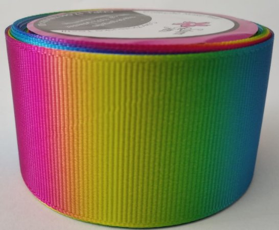 Fita de Gorgurão Degradê Multicolorido 9323