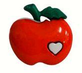 Botão Infantil Maçã com Coração