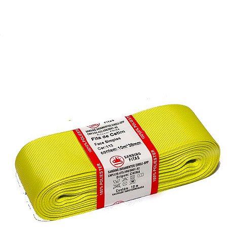 Fita de Gorgurão Sanding n°9(38mm) 10metros - Cor 113 Amarelo